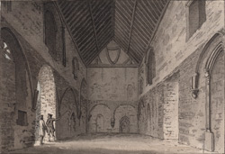 Inside of the refectory of the priory at Boxgrove, Sussex